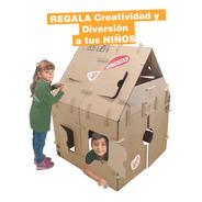 Casa De Juegos Gigante Para Niños P/pintar Incluye Stickers