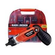 Atornillador Reversible + 110 Acc Black & Decker Fdx100