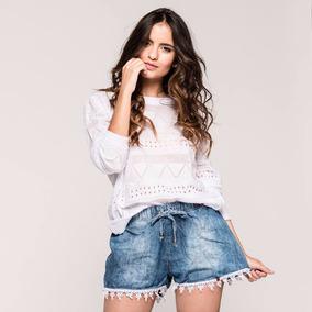 Buso - Saco - Sweater Blanco Para Dama - Excelente Calidad