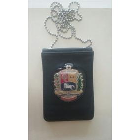 Porta Credencial Colgante Con Escudo De Venezuela