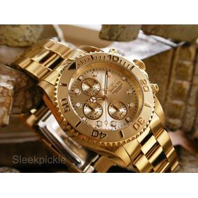9a8984e470b Relógio Invicta Pro Diver 1774 Aço Banhado Ouro 18k - Relógios no ...
