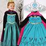Kids Girls Dresses Elsa Frozen Dress Costume Princess Anna
