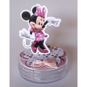 50 Festa Minie Rosa Para Latinha Minnie Mickey 7,5cm