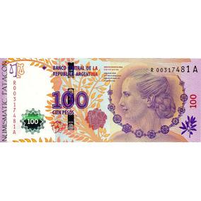 Billete 100 Pesos Eva Perón Reposición Bot 4311 Sin Circ -