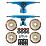 Kit Truck Longboard 180mm Invertido + Rodas Long 71mm 83a