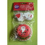 *capacillos Y Toppers Santa Claus Wilton Panquecito Cupcakes