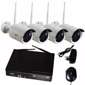 Kit Nvr C/ 4 Câmeras Ipega Hd 1080p Infra Wi-fi 100m Sem Fio