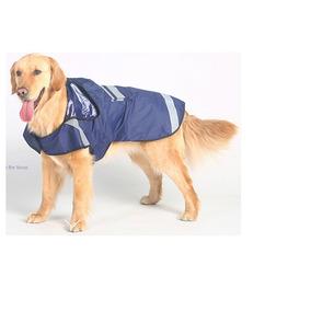 Capa Chuva Azul Capuz Roupa Cão Dog Pet Tamanho P, M, G, Gg