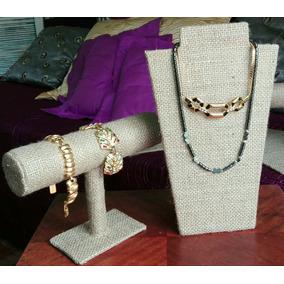 Exhibidores Pechera Para Collar, Cadenitas Pulseras Rústico