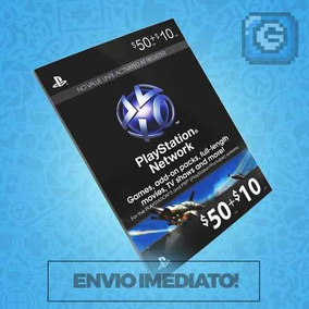 Playstation Network Card Cartao Psn $ 60 ($50+$10) Ou 3x $20