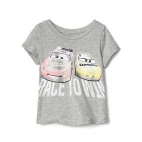 Remera Baby Gap Disney Car´s Brillo Talle 2/4 Años Etiqueta
