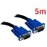 Cabo Vga 5m Monitor Lcd Pc Tv Projetor 5 Metros Blindado
