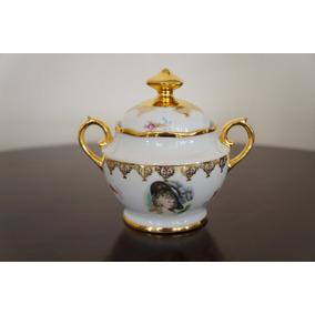 Açucareiro Em Porcelana Real - Dama Antiga - Coleção -