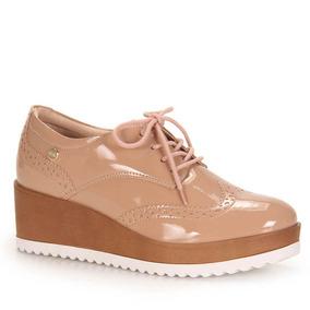 Sapato Oxford Feminino Quiz - Nude