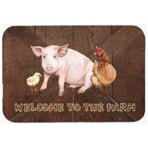 Bienvenido A La Granja Con El Cerdo Y El Pollo De Cristal Ta