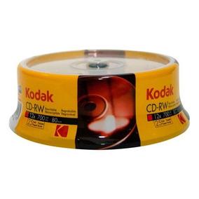 Cd-rw 12x 700mb Regravável Kodak C/25 Unids (10581)