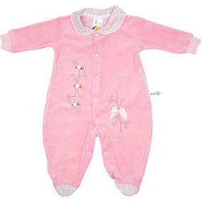 Macacão Manga Longa Para Bebê Menina Plush Com Gola Rn-p-m-g · 2 cores b71e3c1a57e