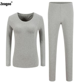 Ropa Interior Tapas + Pantalones Invierno... (gray, Xxl.)
