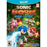 Videojuego Wii U Sonic Boom Rise Of Lyric
