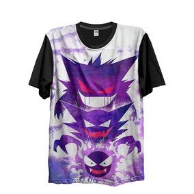 Camiseta Animes Pokemon Fantasma Gastly Haunter Gengar G