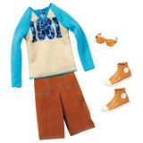 Barbie - Roupa Ken Camiseta Bermuda Tênis Óculos Bcn66 2013