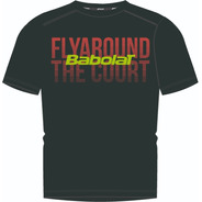 Remera Babolat Hombre T Shirt Team Fly Negro