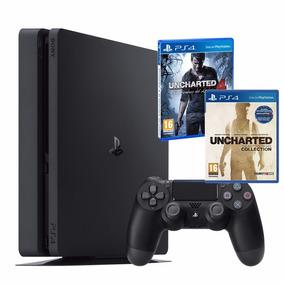 Consola Sony Play Station 4 Slim Con 4 Juegos 500 Gb
