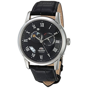 Orient Hombres Fet0t002b0 Sun Y Moon Analog Display Reloj A