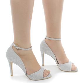 Sandália De Festa Zariff Shoes Prata Frete Grátis | Zariff