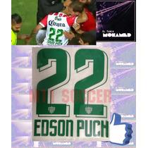 Estampado Necaxa Local 2016-2017 #22 Edson Puch