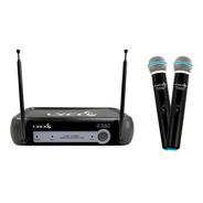 Microfone Sem Fio Duplo Lyco Vh02max-mm Bivolt Preço Barato