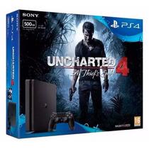 Playstation 4 Ps4 500 Gb Slim Edicion Uncharted 4 Original