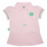 Camisa Polo Do Palmeiras Infantil Oficial Menina