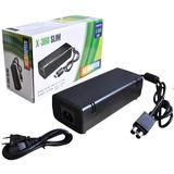 Fonte Para Xbox 360 Slim 110v 220v 135w Cabo Energia