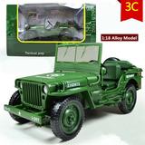 Jeep Willis Militar Minguerra De Colección Escala 1/18