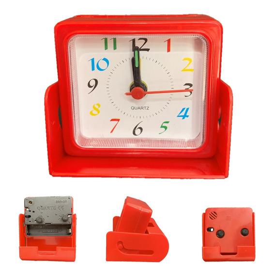 Reloj Despertador Plastico Con Base  X 10 Unidades Col Surt