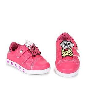 Tênis Sneaker Com Luz Led Infantil Feminino Pampili Pink