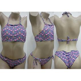 Biquini Flamingo - Calçados, Roupas e Bolsas Azul no Mercado Livre ... 1ccd48d531