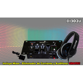 Mixer Dj Mp3 Steelpro De 3 Canales, Usb, Sd Card Y Bluetooth