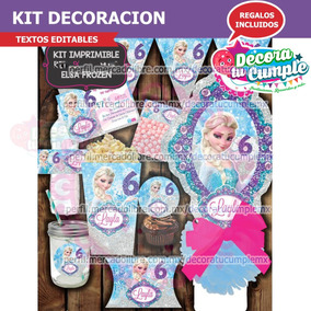 Kit Imprimible Elsa Frozen Decoración Invitación A92