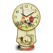 Relógio Parede De Pêndulo - Cozinha Retro Paris Promoção