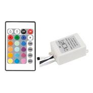 Controladora Para Tira De Led Rgb 24 Botones Control Remoto