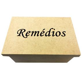 Caixa Organizadora Remedios Mdf Crú Vazado 10 Partições