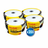 Pack 200 Unidades Cd Imprimible Kodak 52x 700mb 80 Min