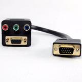 Derivador Cable Adaptador Vga A Vga + Video Componente Htec