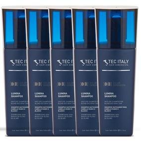 Kit Com 5 Shampoo Lumina - Matizador / 300ml - Tec Italy