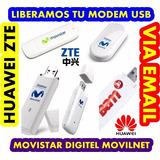 Liberado Modem Usb Huawei Zte Movistar Movistar