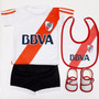 Kit River Plate Bebe Camiseta+short+escarpines+babero Boca