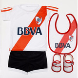 Kit Bebe River Plate Camiseta+short+escarpines+babero