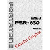 Manual Do Teclado Yamaha Psr 630 Em Português